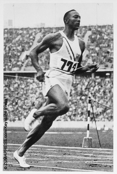 Jesse Owens at the 1936 Olympics in Germany