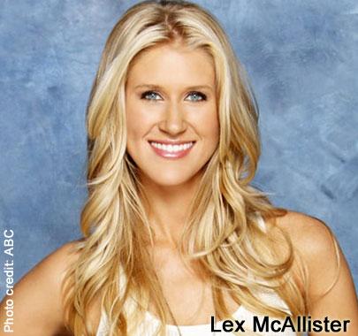 Former Bachelor contestant Lex McAllister