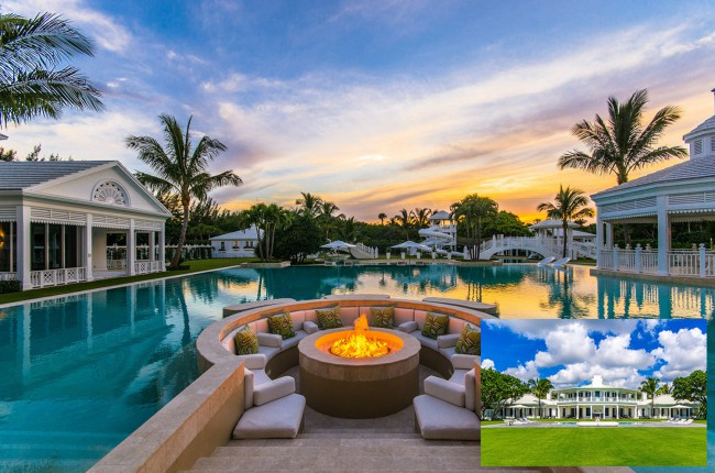 Take your jaw off the floor for a just second — and just look at Celine Dion's $62.5 million, 5.5-acre, Bahamian-inspired Florida oceanfront estate. The two-story, 10,000-square-foot main residence offers an open-plan main level, five bedrooms (with an automated carousel in the master suite closet), a second-level wraparound terrace with ocean views and multiple main […]