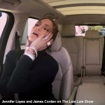 James Corden and JLo on The Late Late Show