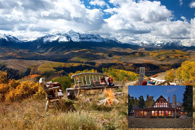 This is the very same $59 million, 298-acre estate in Colorado where Tom Cruise spent time with ex-wife Katie Holmes while she was pregnant with Suri, and where he held his second major interview with Oprah. Completed in 1994, Cruise himself helped design the 10,000-square-foot stone and cedar home. The main house has four bedrooms, […]