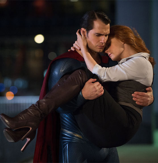 batman v superman Henry Cavill and Amy Adams