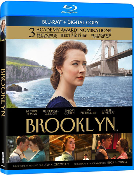 Brooklyn starring Saoirse Ronan on Blu-ray