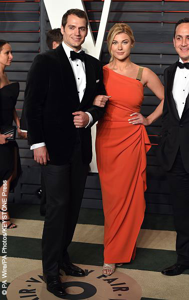 Henry Cavill and Tara King at Vanity Fair Oscar Party