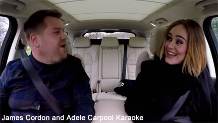 James Cordon and Adele on Carpool Karaoke