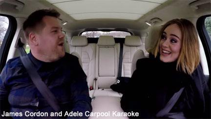 James Cordon and Adele on Carpool Karaoke
