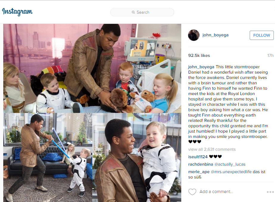 John Boyega Instagram post