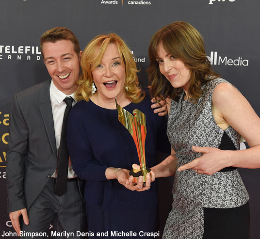 John Simpson, Marilyn Denis and Michelle Crespi won Best Talk Program or Series