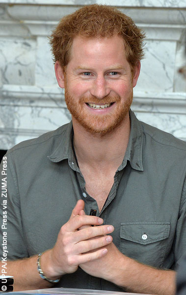 Prince Harry attends a briefing on March 16, 2016 by MapAction