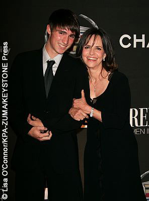Sally Field and her youngest son, Ben