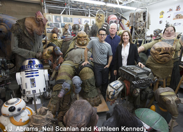 Star Wars creatures with J.J. Abrams, Neil Scanlan and Kathleen Kennedy