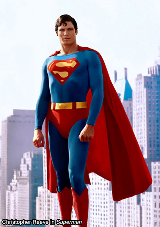 Christopher Reeves in Superman (1978)