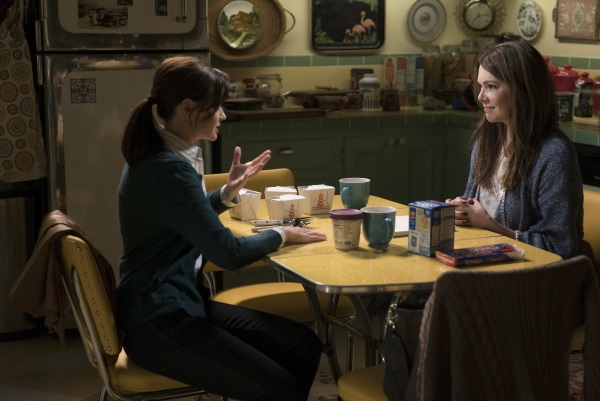 Back at the Gilmore house with Rory and Lorelai