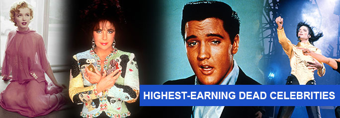 """Saying someone is """"worth more dead than alive"""" is a morbid statement that often rings truer than most mere mortals would like to contemplate. Each year Forbes lists its highest-earning dead celebrities and even though we're listing them according to 2015's top earners, that doesn't mean these celebs aren't earning major cash on a continuous, […]"""