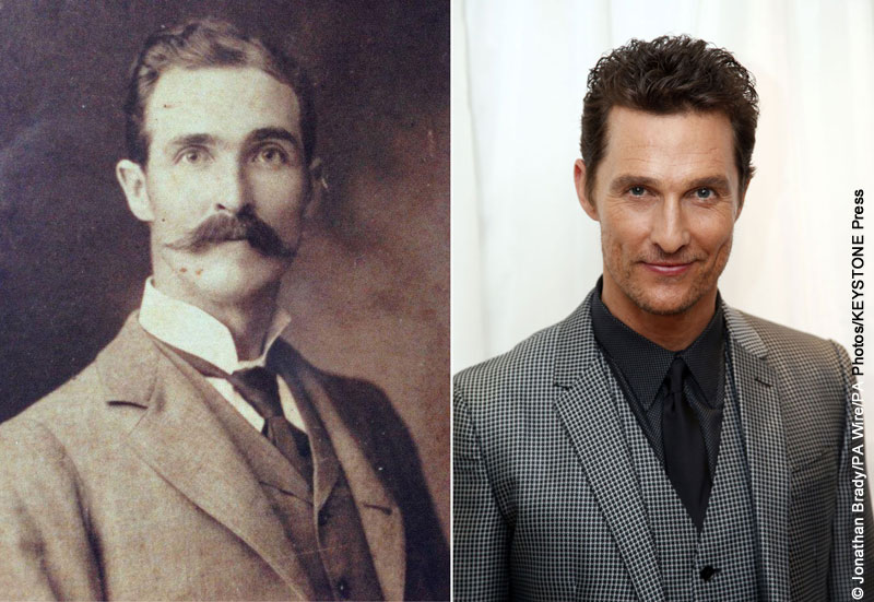 Dr. Andrew Sanders (right) and Matthew McConaughey (right)