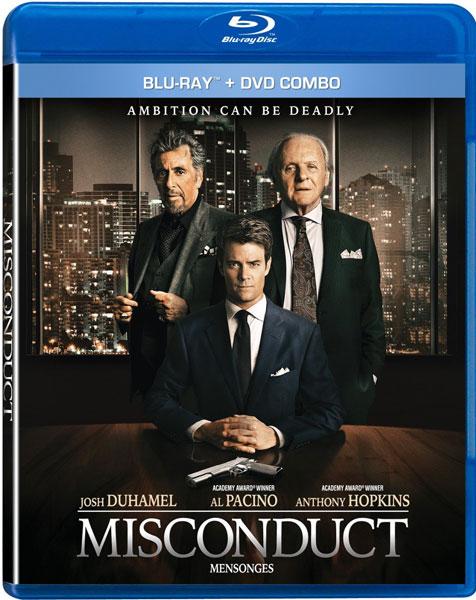 Misconduct Blu-ray DVD combo