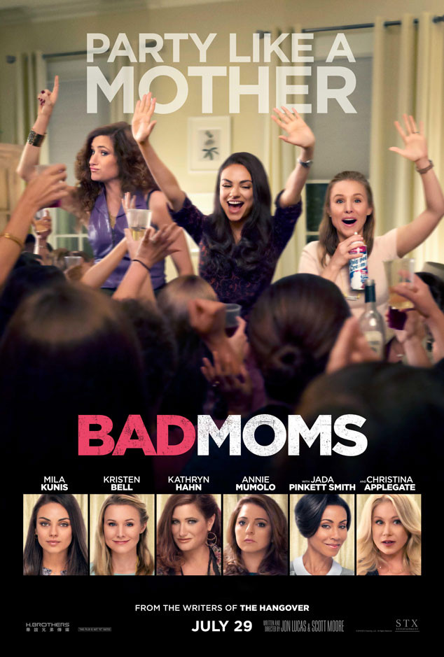 Bad Moms stars Mila Kunis, Kristen Bell, Kathryn Hahn and Christina Applegate