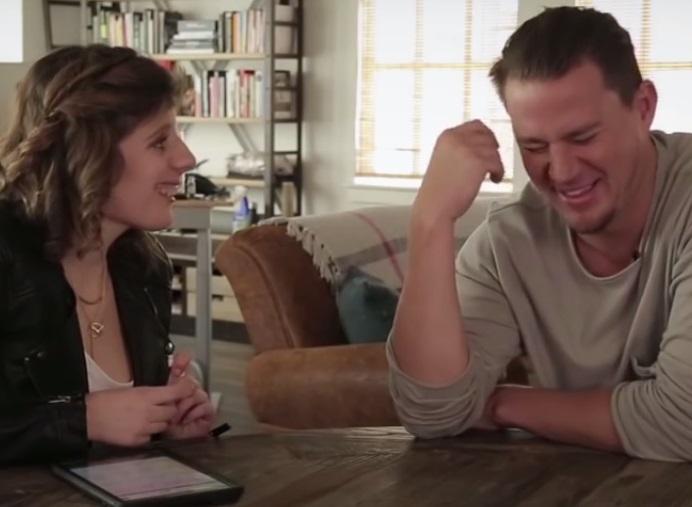 Channing Tatum with Carly Fleischmann