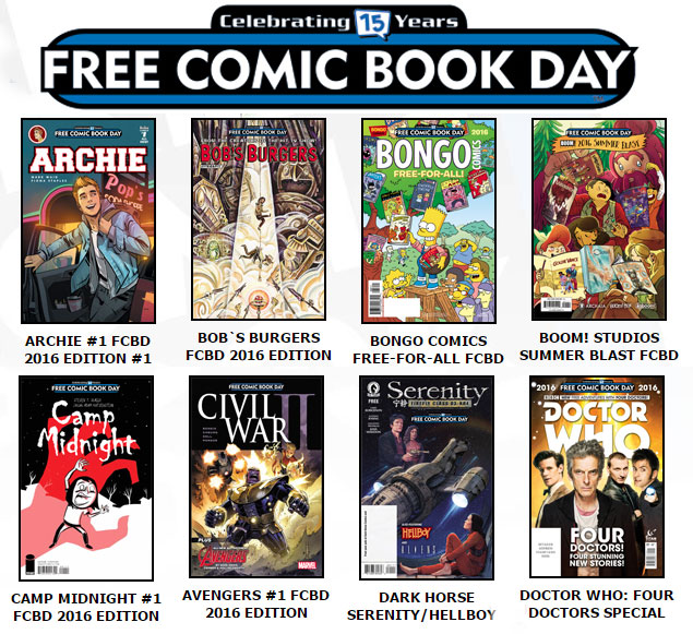 Free Comic Book Day May 7, 2016