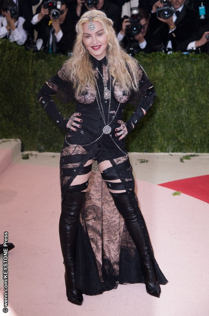 We're far from hung up on this look from the Queen of Pop. Madonna's bondage-themed, revealing black Givenchy ensemble, with cut-outs that would have left her bust and rear completely exposed if it weren't for a hint of sheer fabric, suggests this girl has gone wild. It's been said that her look was inspired by […]
