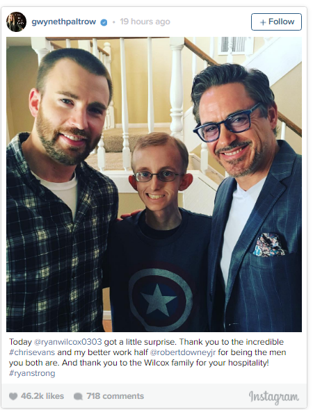 Chris Evans and Robert Downey Jr. with Ryan Wilcox