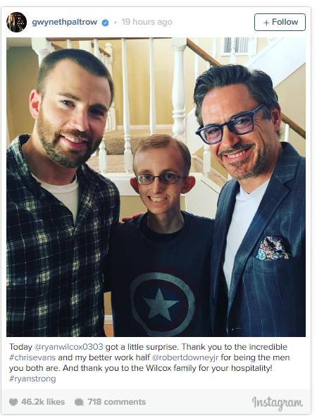 Chris Evans and Robert Downey Jr. with Ryan Wilcox
