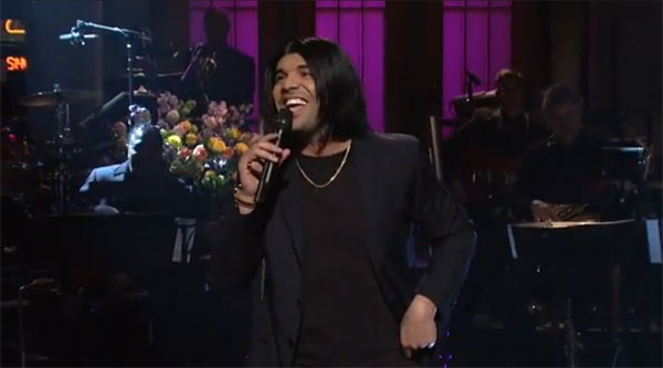 Drake impersonating Rihanna on SNL