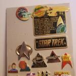 Allan Cox and his wide assortment of Star Trek pins!