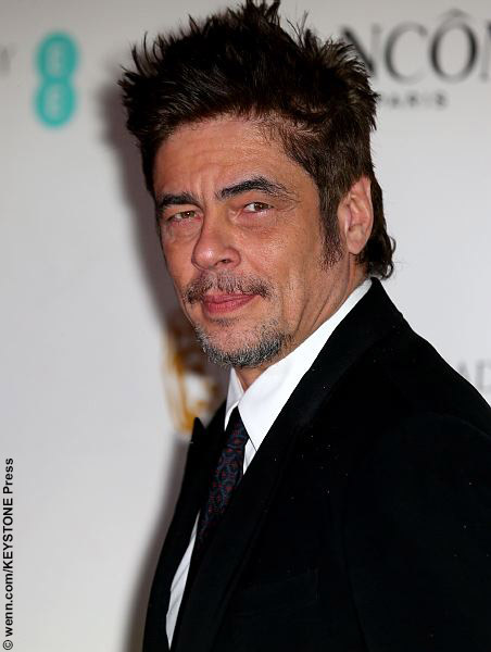 Benicio Del Toro at the EE British Academy Film Awards Nominees Party