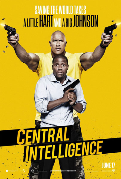 Central Intelligence starring Dwayne Johnson and Kevin Hart