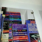 A. Hunter and his mini-library of Star Trek novels!