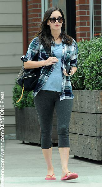 Megan Fox enjoying a walk.