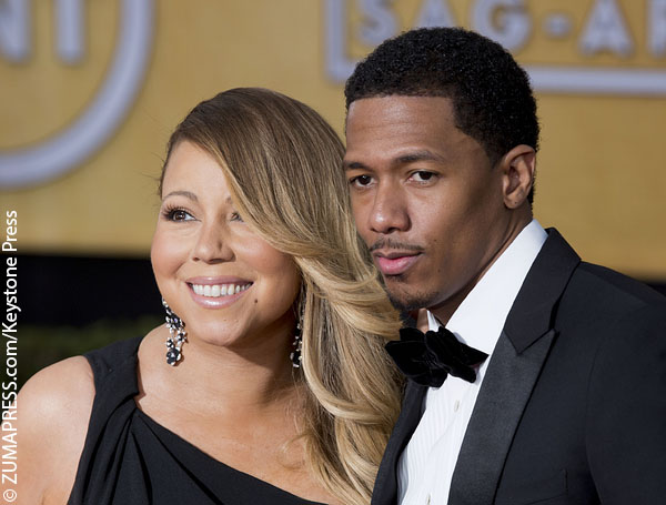 Nick Cannon with his estranged wife Mariah Carey