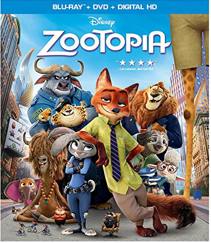 Zootopia on Blu-ray and DVD