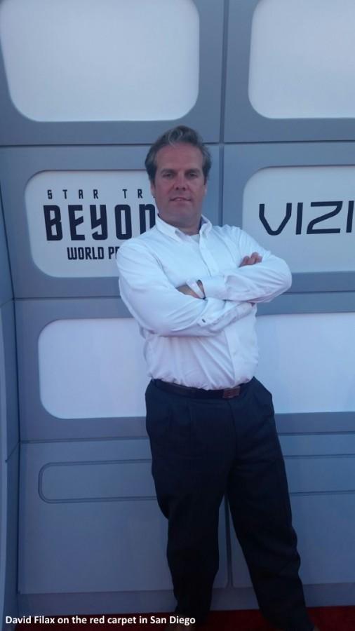David Filax on the red carpet of the Star Trek Beyond premiere