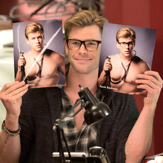 Chris Hemsworth as Kevin Beckman in Ghostbusters