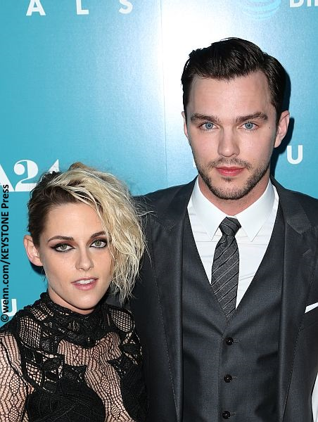 Kristen Stewart and Nicholas Hoult at the premiere of Equals
