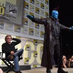 Actors Kurt Russell (L) and Yondu (Michael Rooker) from Marvel Studios' Guardians Of The Galaxy Vol. 2