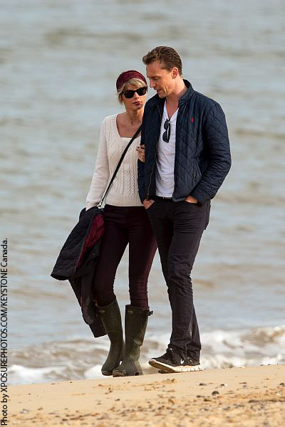 Taylor Swift and Tom Hiddleston visit the beach