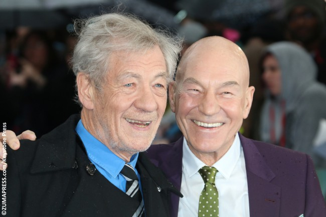 Since meeting on the set of 1999's X-Men, Ian McKellen and Patrick Stewart have been inseparable, and the subject of much envy. They work, travel, party, and celebrate holidays together, hold hands, kiss, and compete against each other. Ian even officiated Patrick's 2013 wedding. What else could friendship possibly entail?