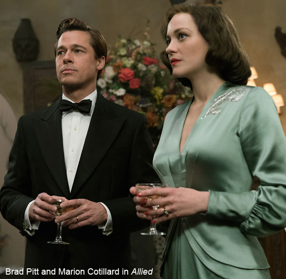 Brad Pitt and Marion Cotillard in Allied