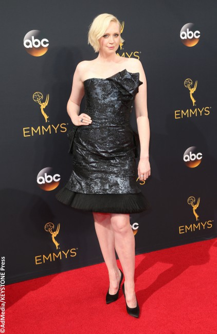 Game of Thrones star Gwendoline Christie was far from reaching the best dressed throne in this garbage bag-looking cocktail dress by Giles. The piece swallowed up her figure, and the unnecessary bow at the back was a disaster to behold (and would have been a nightmare to sit with, we imagine). One question: why?