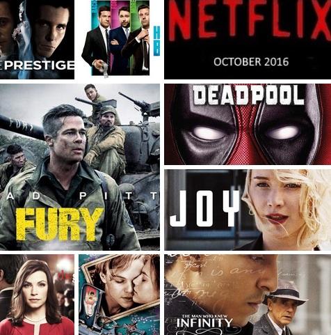 October 2016 Netflix titles
