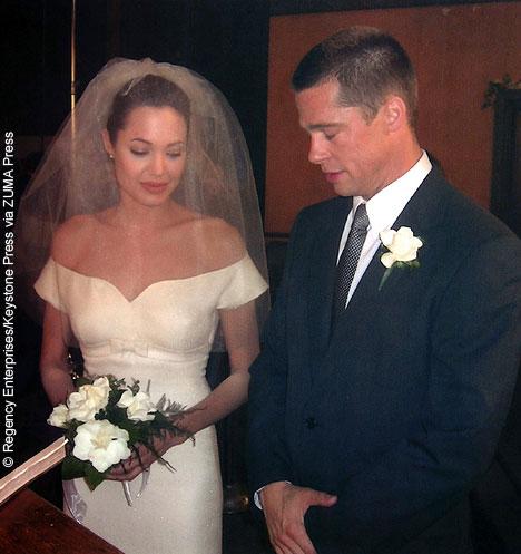 Angelina Jolie and Brad Pitt wedding day