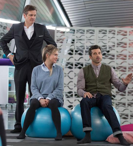 Colin Firth, Renee Zellweger and Patrick Dempsey in Bridget Jones's Baby