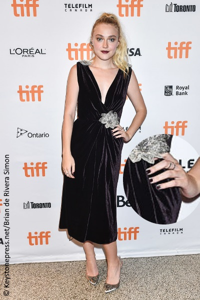 Dakota Fanning at the TIFF red carpet