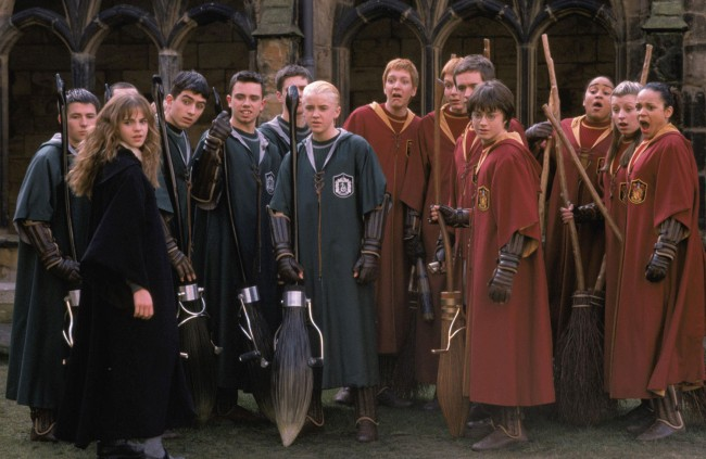 During the filming of the second movie —Harry Potter and the Chamber of Secrets— a severe case of head-lice broke out among many of the young actors on the set. Ick!