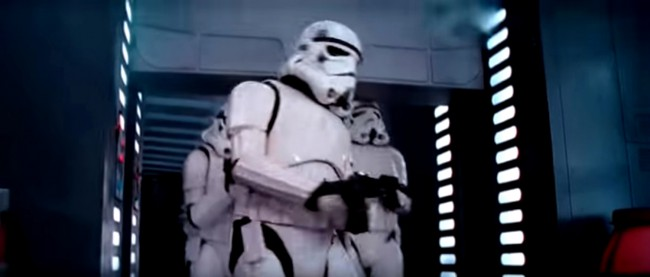 "A Stormtrooper hits his head on the door opening in 1977's Star Wars: Episode IV A New Hope – if you watch the film you can actually hear a ""thud!"""