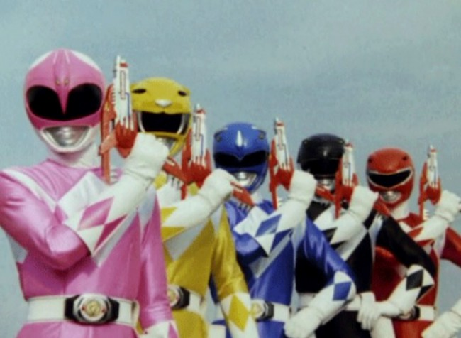 "Because of complaints from parents that the Power Rangers were ""too violent,"" the Rangers' Blade Blasters were holstered in their belts most of Season 2."