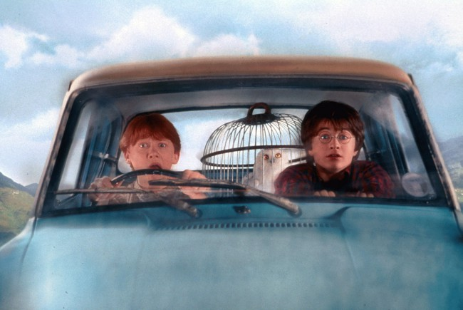 Many cars were harmed in the making of the Whomping Willow scene in the second film, Harry Potter and the Chamber of Secrets. Fourteen Ford Anglias were destroyed in the filming of the scene where Harry and Ron crashed into the Whomping Willow while attempting to get to Hogwarts for the start of their second […]